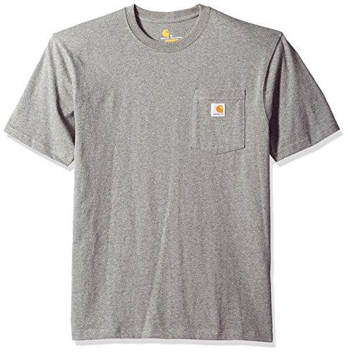 Carhartt Herren Workwear Pocket Short Sleeve Arbeits-T-Shirt, Dunkelgrau, X-Groß -