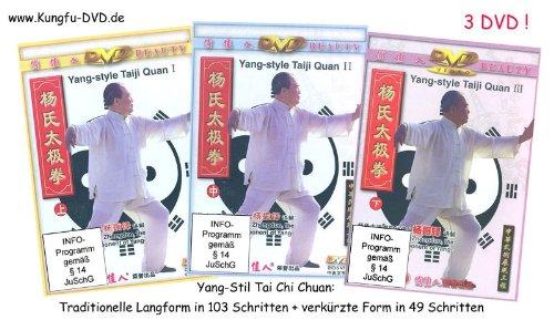 Yang-Stil Tai Chi Chuan: Traditionelle Langform in 103 Schritten und verkürzte Form in 49 Schritten (3 DVD)