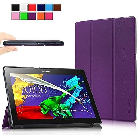 Infiland Lenovo Tab 2 A10-70L / A10-70F Funda Case-Ultra Delgada Tri-Fold Case Cover PU Cuero Cascara con Soporte para Lenovo Tab2 A10-70 10 inch (10,1 pulgadas) Tablet-PC