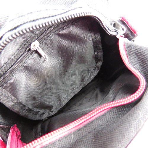 Bolsa de hombro 'Monster High' rosa negro gris.