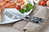 GRÄWE 6 Stück Steakmesser Serie ' Nürnberg ' schwere geschmiedete Ausführung -