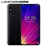 UMIDIGI F1, Smartphone Portable Débloqué 4G Android 9.0 Ecran 6.3 Pouces FHD+128 Go, Octa-Core, Helio P60 AI, Batterie 5150 mAh, Double SIM 4G Volte, NFC, Double Caméras 16MP+8MP - Noir