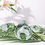 H&D Geschenk Grün Ornament Tier Figur aus mundgeblasenem Glas Art Moderne Figur Office Home Tisch Dekoration Briefbeschwerer - 2
