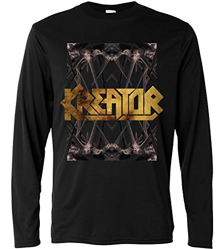 T-shirt a manica lunga Uomo - Kreator - Spines - Long Sleeve 100% cotone LaMAGLIERIA, XL, Nero