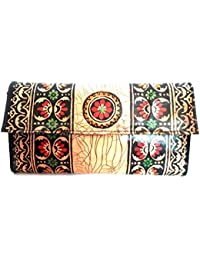 Sikha Handicrafts Women's Goat Leather Wallet Small Multi-Coloured - B0785DTBG8