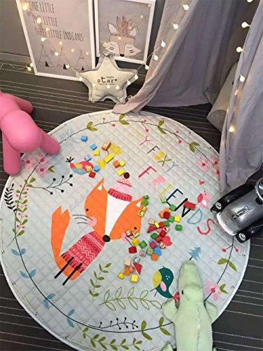 Kinder Aufräumsack Spielmatte Spielzeugteppich für kinderzimmer Speicher Tasche& Aufbewahrung ⌀150cm(Freund) (Freund Tasche)