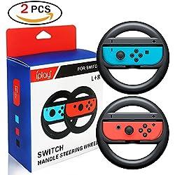Joy-Con Wheel Controller, Nintendo Switch Controller per volante Set di 2 (Nero) (nero)