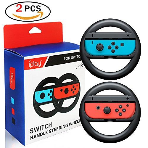 Newin star 2*Volants pour Nintendo Switch Grips de poignée de roue pour Nintendo Switch Commutateur Joy-Con