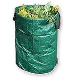 120L Sacs à déchets de jardin, réutilisable pliable jardinage Feuille conteneurs de sacs poubelle Seau