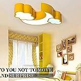 SED Soffitto luce- lucido luna nuvole camera da letto luci soffitto luci soffitto dei bambini camera da letto soggiorno (blu/verde / rosso/giallo) 60 * 40cm-36w -,Oscillazione Promise Giallo