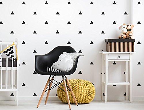 *I-love-Wandtattoo WAS-10620 Kinderzimmer Wandsticker Set Schwarze Dreiecke 70 Stück Geometrische Formen Zum Kleben Wandtattoo Wandaufkleber Sticker Wanddeko*