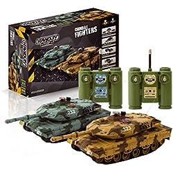 Ninco Combat Fighters. Pack 2 tanques radiocontrol con sistema de batalla por infrarrojos. Baterias recargables incluidas.