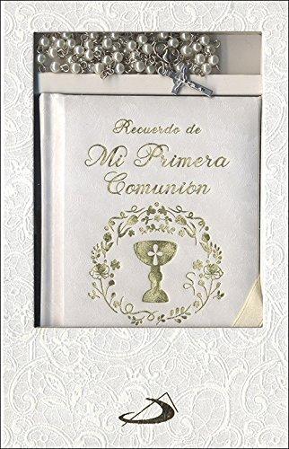 Estuche Primera Comunión. Modelo 2: Libro de oraciones y rosario por Equipo San Pablo
