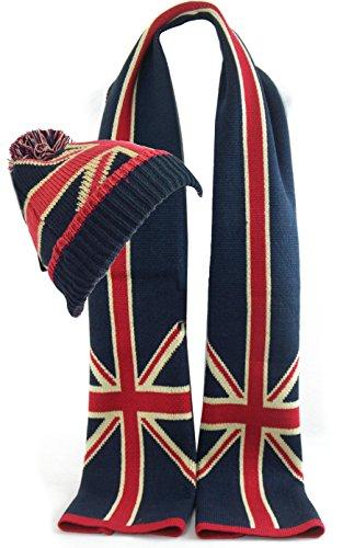 GFM Schal mit Muster, britische Flagge, Union Jack, weich Gr. M, .Hat Scarf Set (SS641SET) -