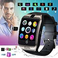 Bluetooth Smartwatch con Camera,Smart Watch Phone Touchscreen,Smart Orologio,Impermeabile Orologio Intelligente con SIM Card Fessura per Android Samsung Huawei ios iphone X 8 7 6 6s 5 Uomo Men Donna