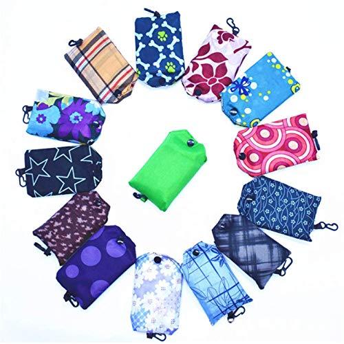 dfgjdryt Bedeutende Nylon Faltbar Einkaufstasche Tragbar Handtaschen Taschen Blumenmuster Wiederverwendbar Einkaufstaschen Große Handtasche Farbe Verteilte Vintage in Feinem Stil - 1, 1 -