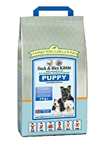 James Wellbeloved Puppy Duck and Rice Kibble 2 kg