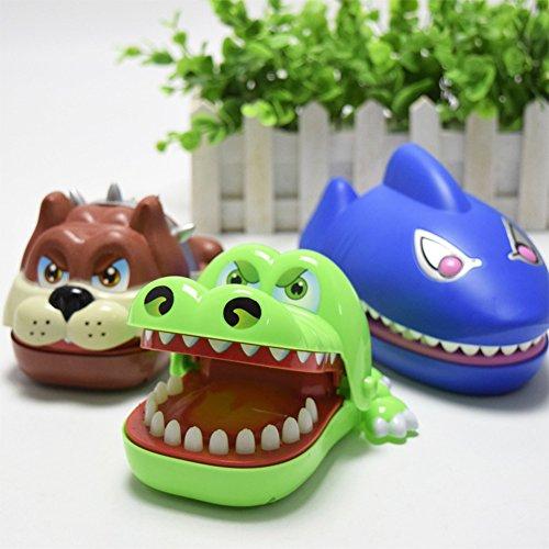 Der kreative lustige Mund der Kinder, der großen Bulldog Snappy Haifisch-Finger-Spiel-Spielzeug beißt
