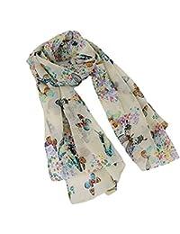 HENGSONG Elegant Women Poppy Flower Print Long Scarf Wrap Shawl