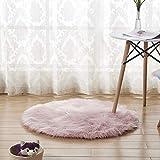 CQ Teppich PlüSch Runde Nachahmung Australian Wollteppich,Pink,30 * 30cm