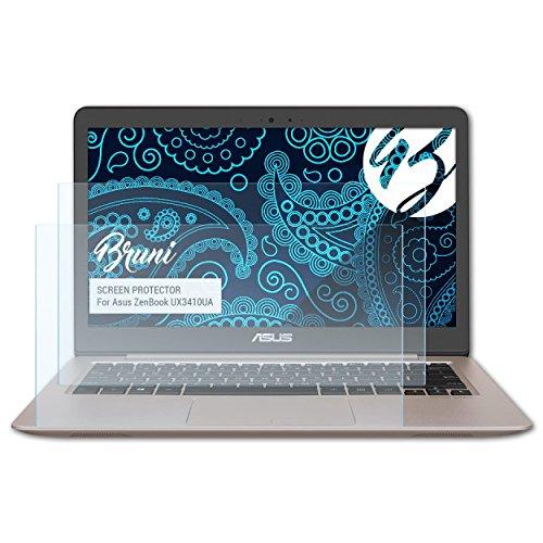 Bruni Schutzfolie für Asus ZenBook UX3410UA Folie, glasklare Displayschutzfolie (2X)
