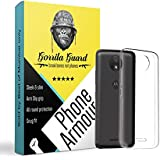 Gorilla Guard™s Clear Soft TPU Case Protector Cover For Motorola C+ Plus Made Of Soft Silicon Gel With Shock Absorbtion Bumper Fitting, Light Weight, Scratch Proof & Slim Fit Case Cover