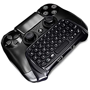 GEEKLIN Mini 47 Keys Wireless Tastatur, Spiel Griff Controller 2.4G Tastatur Adapter Controller PS4 PlayStation (Schwarz…