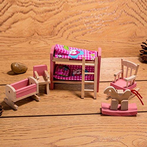 Horbous set mobili per casa di bambola mobili miniatura casa bambole bagno camera da letto mobili per casa delle bambole cucina mobili in miniatura (cameretta dei bambini)