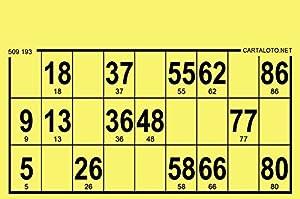 CARTALOTO-1000 Cartulinas de Loto rígidas, Formato estándar, Grosor 1,5 mm, Color: Amarillo, GTRI1000-01, Multicolor
