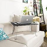SoBuy® FBT09-Sch Table de Lit pour PC Portable, Table de Repas Pliable, Plateau Petit Déjeuner au Lit en Bois- Noir