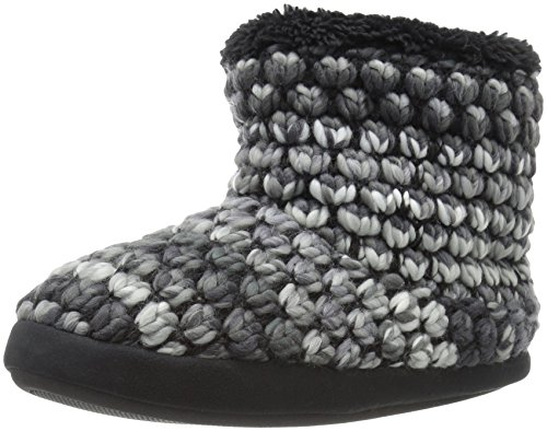 DearfoamsPopcorn Knit Bootie - Popcorn Gestrickt Stiefel Damen, Schwarz (schwarz), Small/35-36 EU