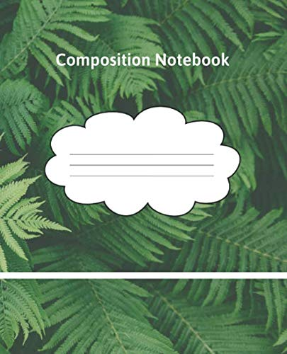 Composition Notebook: College Ruled Blank Lined Writer's Notebook for School / Teacher / Office / Student / Home Schooling / Foreign Language Study | Writing Notes Journal (7.5 x 9.25 inches). 9.25