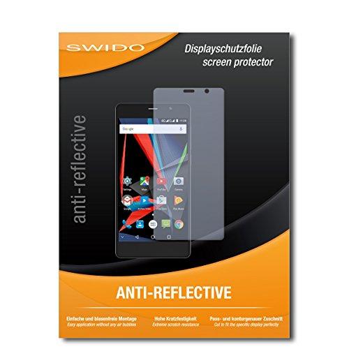 SWIDO Schutzfolie für Archos 55 Diamond Selfie [2 Stück] Anti-Reflex MATT Entspiegelnd, Hoher Härtegrad, Schutz vor Kratzer/Bildschirmschutz, Bildschirmschutzfolie, Panzerglas-Folie