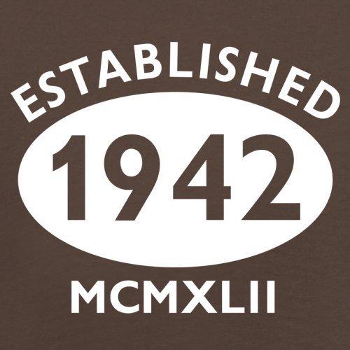 Gegründet 1942 Römische Ziffern - 75 Geburtstag - Herren T-Shirt - 13 Farben Schokobraun