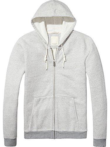 Scotch & Soda Herren Sweatshirt Home Alone Classic Zip Through Hoody Grau (Grey Melange 98)