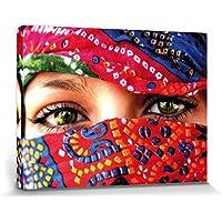 1art1® Mujeres - Ojos Árabes Cuadro, Lienzo Montado Sobre Bastidor (80 x 60cm)
