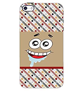PrintDhaba SMILE PATTERN D-6278 Back Case Cover for APPLE IPHONE 5 (Multi-Coloured)