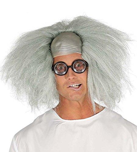 Zukunft Arzt Kostüm - Perücke verrückten Wissenschaftlers mit silbernen Haaren