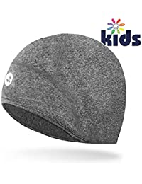 c1d041fc913 Empirelion kids Thermal cycling skull caps Cover Ears Helmet Liner Beanie  child Running Hats