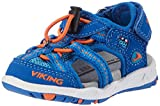Viking Unisex-Kinder Thrill Geschlossene Sandalen, Blau (Royal/Orange), 33 EU