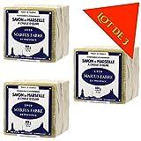 Lot de 3 savons de MARSEILLE à L'HUILE D'OLIVE - Cubes de 600g - Marius Fabre ...