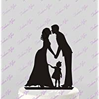 ROSENICE pasteles de boda de Toppers de la torta de boda y novios beso en mano par acrílico silueta aniversario