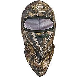 Tagvo Mascara de caza pasamontañas, camuflaje a prueba de viento pasamontañas gorra táctica sombreros, forro de cascos para adultos mujeres y hombres tamaño universal elástico