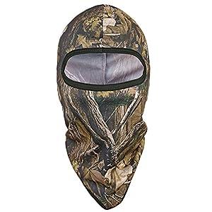 Tactique Airsoft Ext/érieur Chasse Souple Complet Visage de Protection Masque QMFIVE Ninja Hoodie Camouflage Cagoule