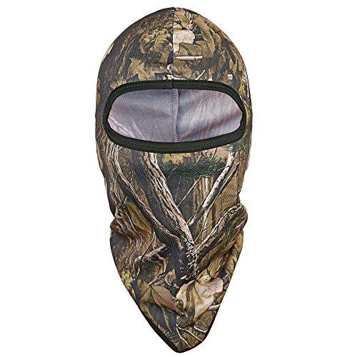 Tagvo Jagd Balaclava Gesichtsmaske, Winddicht Camouflage Balaclava Taktische Kapuze Headwear, Helme Liner für Erwachsene Frauen und Männer elastische Universalgröße (Stil-A81) -