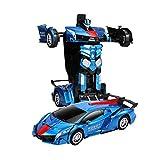 RC Transformation Robot Modelli di auto 1:12 con Deformazione vocale controllata + con suoni un giocattolo di auto induzione di deformazione chiave, giocattolo, deriva rotante a 360 gradi e luci