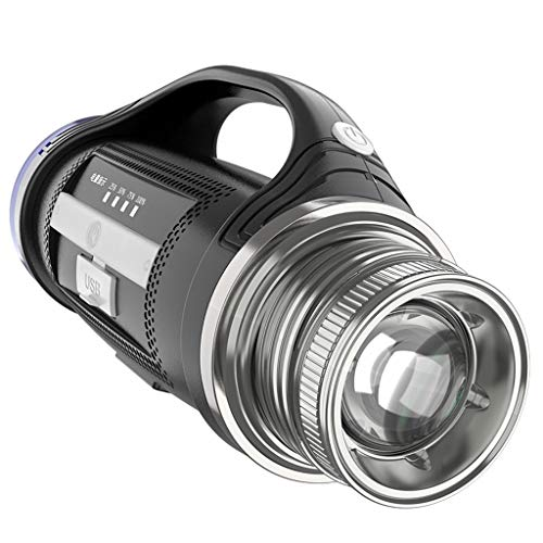 YROD light Angeln Licht, Nacht Lampe Doppelter Lampenkopf Fokus Zoomen Laterne Xenon Taschenlampe (Farbe : Battery life 12h)