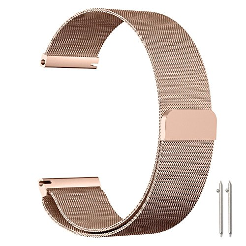 Metou03 for Samsung Gear S2 Classic/Gear Sport/Galaxy Watch 42mm Strap, 20mm Milanese...