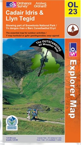 Cadair Idris & Llyn Tegid ~ Explorer OL23 (The Outstanding All Weather Map)