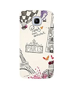 GripIt Paris Art Printed Case for Samsung Galaxy J2 Pro